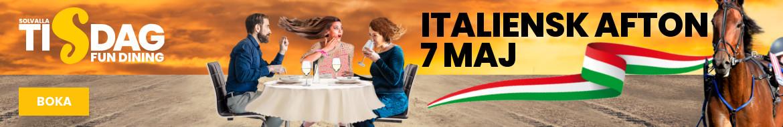 Italiensk afton liggande